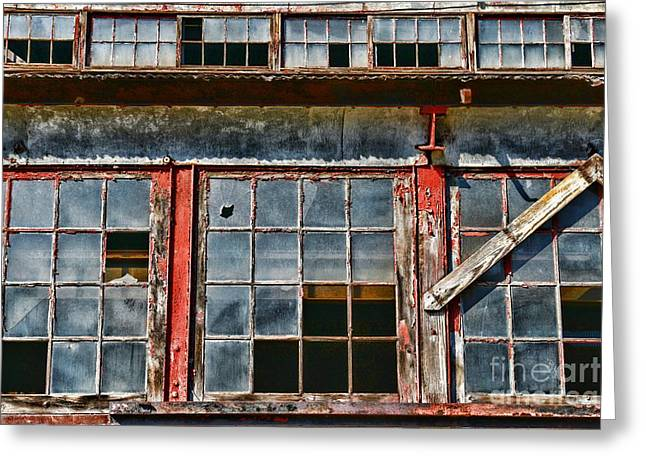 Historical Buildings Greeting Cards - Broken Windows Greeting Card by Paul Ward