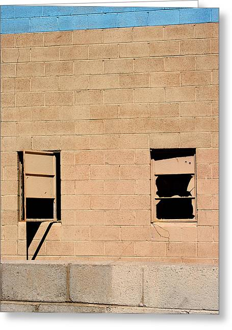 Looking Around Greeting Cards - Broken Windows Greeting Card by William Dey