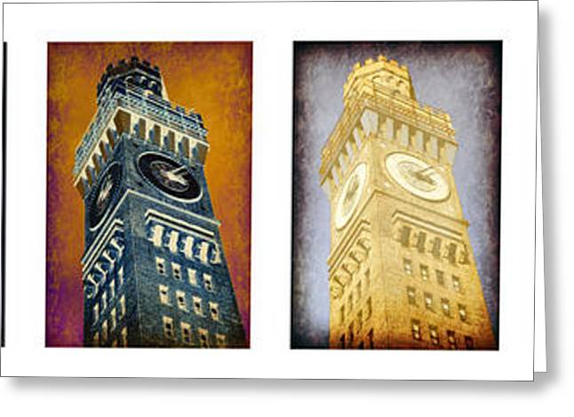 ist Photographs Greeting Cards - Bromo Seltzer Tower Panoramic Greeting Card by Stephen Stookey