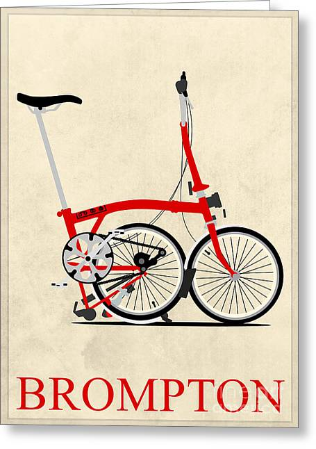 Tern Digital Art Greeting Cards - Brompton Bike Greeting Card by Andy Scullion
