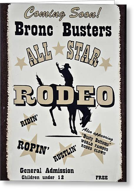 Cowgirl Prints Greeting Cards - Bronc Busters Greeting Card by Ricky Barnard