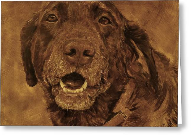 Chocolate Lab Greeting Cards - Bronco Jack Greeting Card by Rick Reason
