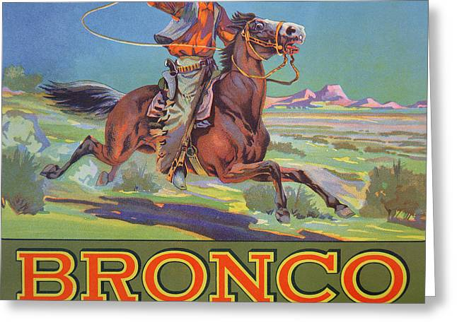 Bronco Oranges Greeting Card by American School