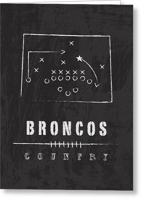 Pro Football Digital Greeting Cards - Broncos Country 2 Greeting Card by Damon Gray