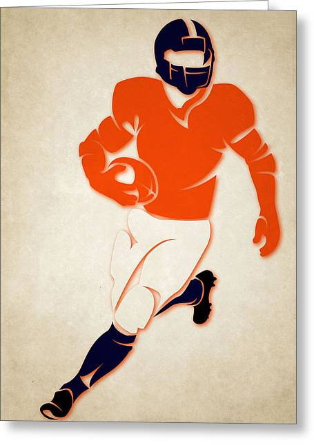 Broncos Greeting Cards - Broncos Shadow Player Greeting Card by Joe Hamilton