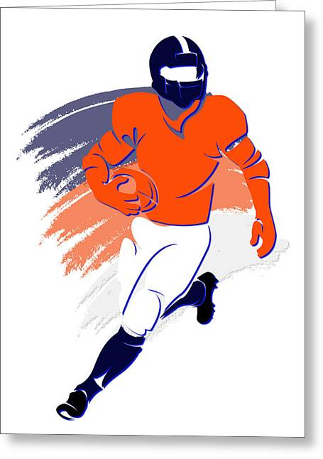Broncos Greeting Cards - Broncos Shadow Player2 Greeting Card by Joe Hamilton