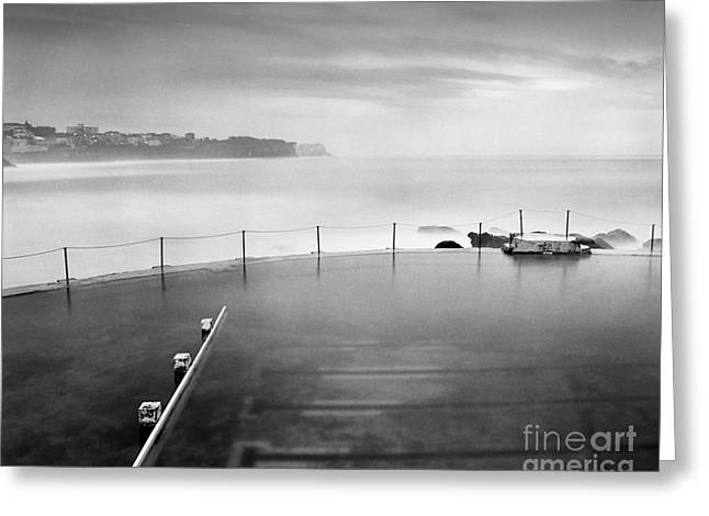 Australia Photographs Greeting Cards - Bronte Pool Sydney at Dawn Greeting Card by Colin and Linda McKie