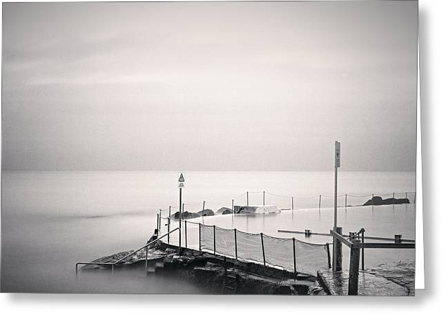 Australia Photographs Greeting Cards - Bronte Pool Sydney Greeting Card by Colin and Linda McKie