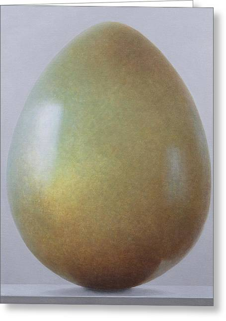 Bronze Greeting Cards - Bronze Age Egg Acrylic On Canvas Greeting Card by Lincoln Seligman