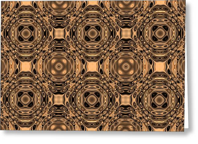 Algorithmic Abstract Greeting Cards - Bronze Age Greeting Card by Judi Suni Hall