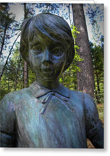 Garden Statuary Greeting Cards - Bronze Freckles Greeting Card by Frank Wilson