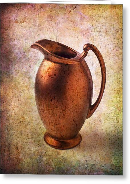 Pitcher Greeting Cards - Bronze Pitcher Greeting Card by Garry Gay