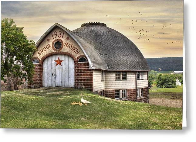 Brook Digital Art Greeting Cards - Brook Haven Farm - 1931 Greeting Card by Lori Deiter