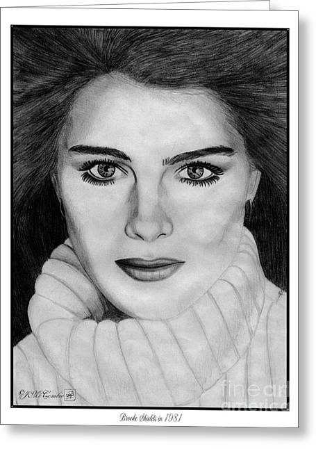 Fame Drawings Greeting Cards - Brooke Shields Greeting Card by J McCombie