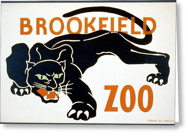 Black Leopard Greeting Cards - Brookfield Zoo  Greeting Card by Christopher DeNoon
