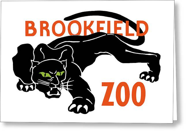Zoology Greeting Cards - Brookfield Zoo WPA Greeting Card by War Is Hell Store