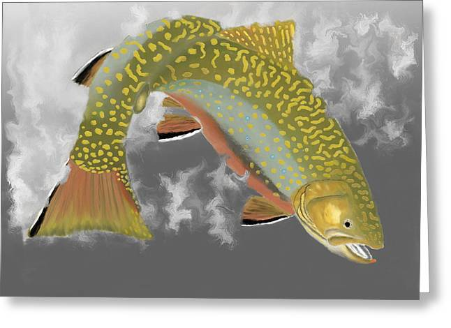 Brook Trout Image Greeting Cards - Brookie Greeting Card by Bruce J Barker