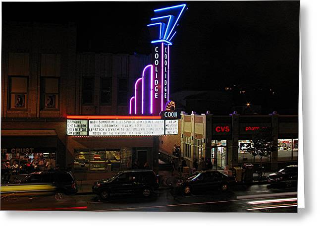 Coolidge Greeting Cards - Brookline Coolidge Corner Theater Greeting Card by Juergen Roth