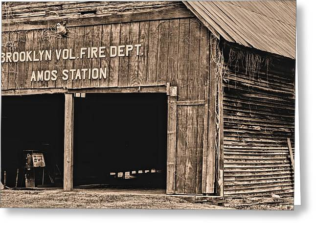Vol Greeting Cards - Brooklyn Alabama Fire Dept Greeting Card by JC Findley