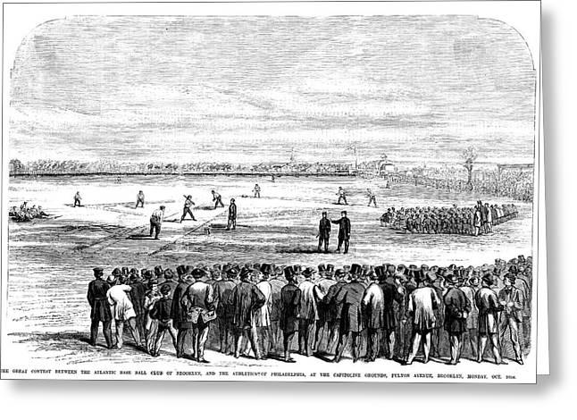 Brooklyn Baseball, 1866 Greeting Card by Granger