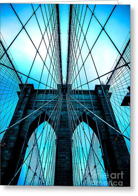 Manhattan Greeting Cards - Brooklyn Blues Greeting Card by Az Jackson