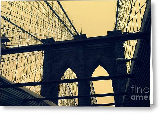 Take Over Greeting Cards - Brooklyn Bridge #1 Greeting Card by Paulo Guimaraes