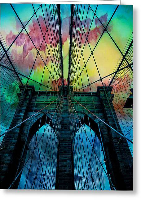 Psychedelic Skies Greeting Card by Az Jackson