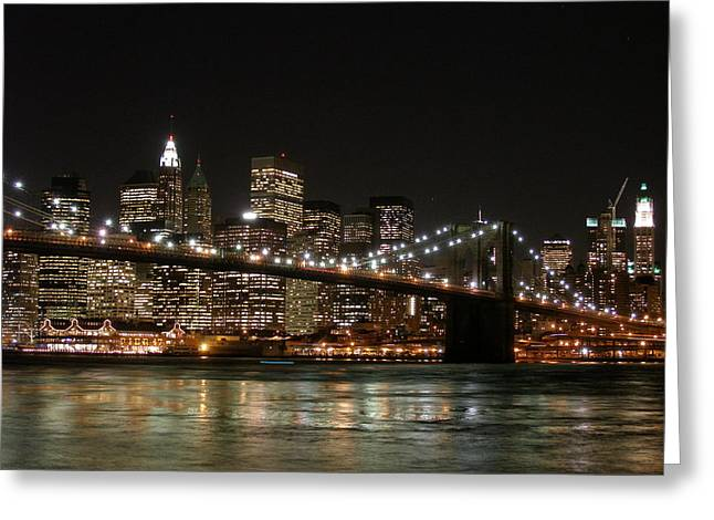 Wolkenkratzer Greeting Cards - Brooklyn Bridge Greeting Card by George Inness