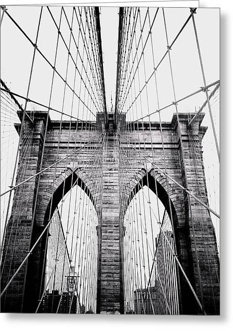 Lower East Side Greeting Cards - Brooklyn Bridge Greeting Card by Joann Vitali