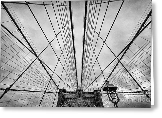 U.s.a Greeting Cards - Brooklyn Bridge Greeting Card by John Farnan