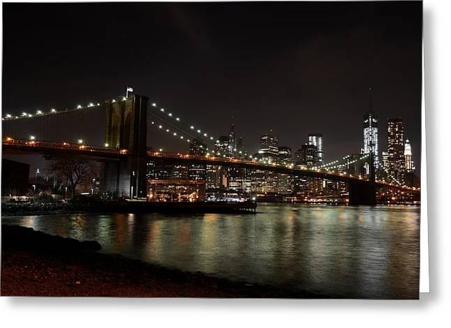 Beach Photography Digital Greeting Cards - Brooklyn Bridge New York City Greeting Card by Toby McGuire