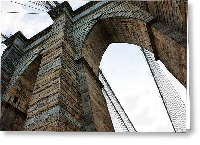 Car Carrier Greeting Cards - Brooklyn Bridge New York Greeting Card by Evie Carrier