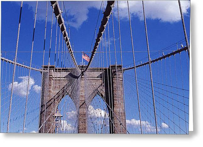 Connectivity Greeting Cards - Brooklyn Bridge, Nyc, New York City Greeting Card by Panoramic Images