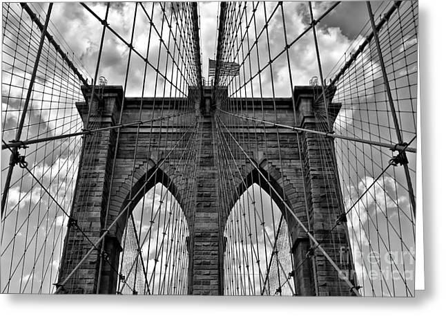 Consumerproduct Greeting Cards - Brooklyn Bridge Greeting Card by Peter Dang