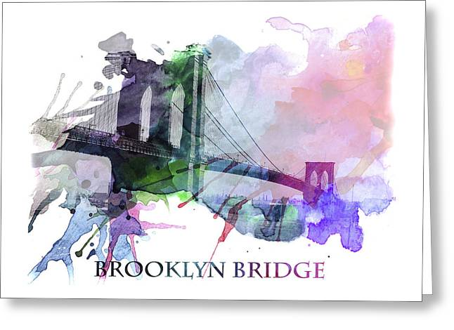 Brooklyn Bridge Mixed Media Greeting Cards - Brooklyn Bridge Greeting Card by Stefan Kuhn