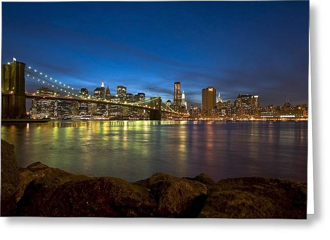 Svetlana Sewell Greeting Cards - Brooklyn Bridge Greeting Card by Svetlana Sewell