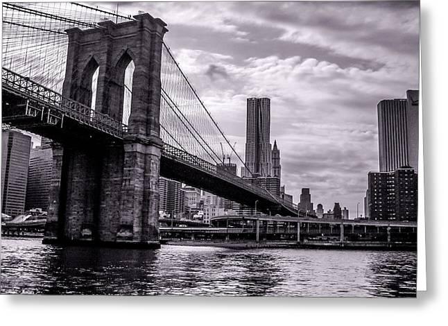 Brooklyn Bridge Greeting Card by Wilson Carvalho