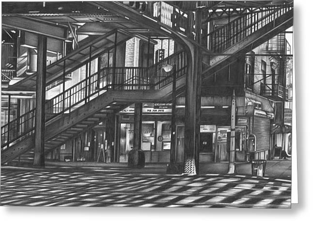 Photorealism Greeting Cards - Brooklyn EL Greeting Card by Jerry Winick