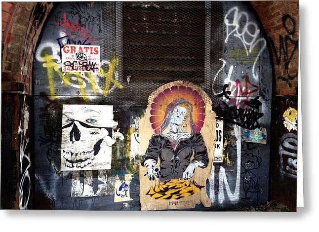 Nyc Graffiti Greeting Cards - Brooklyn Graffiti Greeting Card by Natasha Marco
