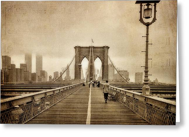 Brooklyn Memoirs Greeting Card by Joann Vitali