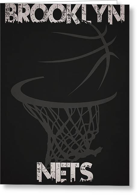Net Greeting Cards - Brooklyn Nets Hoop Greeting Card by Joe Hamilton