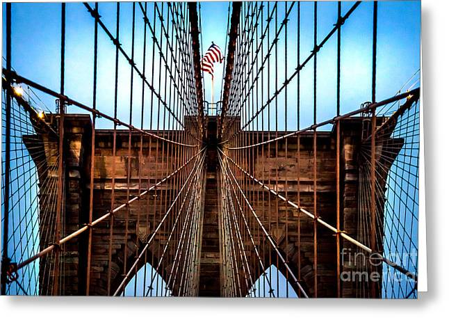 Brooklyn Perspective Greeting Card by Az Jackson
