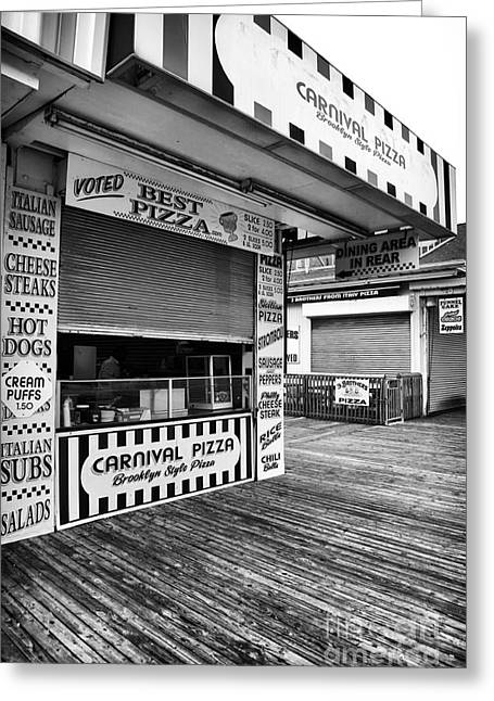 Height Greeting Cards - Brooklyn Pizza Greeting Card by John Rizzuto