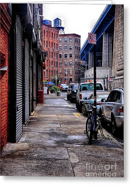 Knicks Greeting Cards - Brooklyn Street Greeting Card by Bob Stone