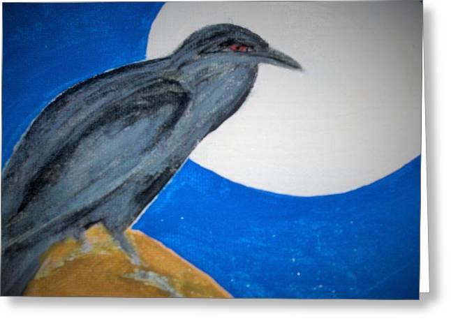 Outsider Art Greeting Cards - Brother Crow Greeting Card by Micki Rongve