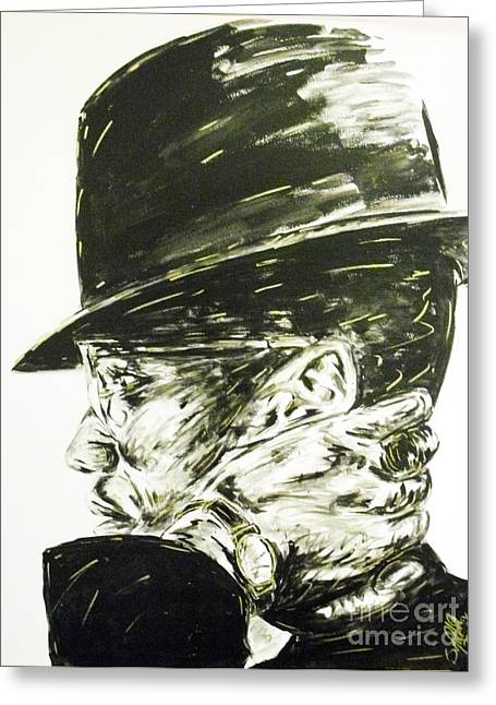 Shabazz Greeting Cards - Brother Malcolm Greeting Card by Patrick Smith