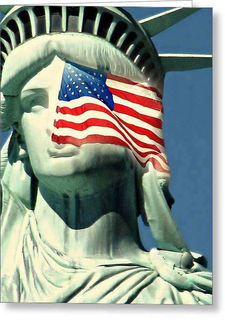 Flag Of Usa Greeting Cards - Brotherhood Greeting Card by Diana Angstadt