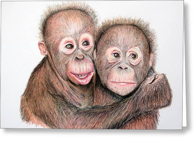 Mary Mayes Greeting Cards - Brotherly love Greeting Card by Mary Mayes