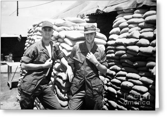 Binh Greeting Cards - Brothers In Arms Greeting Card by Mel Steinhauer