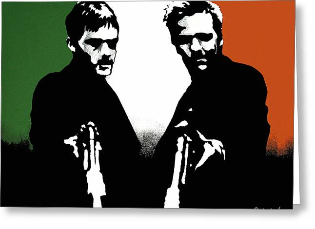 Brothers Killers and Saints Greeting Card by Dale Loos Jr